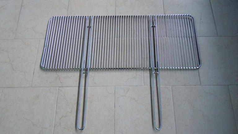 Griglie barbecue manici estraibili acciaio su misura for Griglia per barbecue bricoman