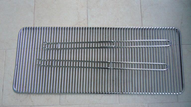 Griglia barbecue in acciaio inox aisi 304 - Griglie barbecue manici estraibili Acciaio su misura ...
